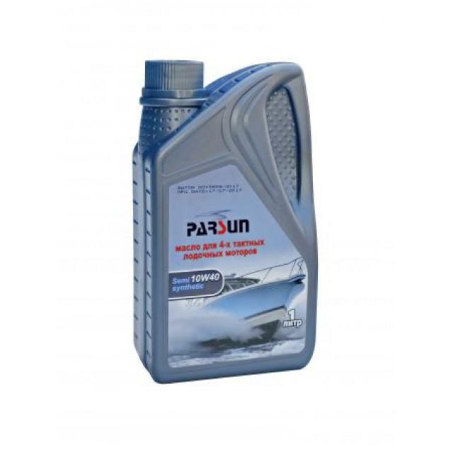 Моторное масло PARSUN 4-х тактное 10W-40 полусинтетическое, 1 л