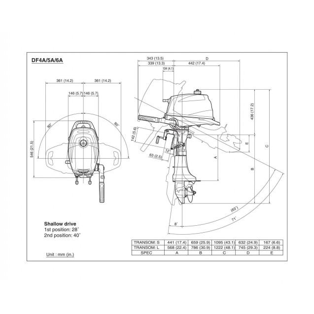 Лодочный мотор Suzuki DF 6 AL