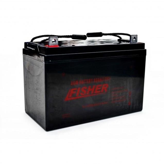 Электромотор Fisher 32 + аккумулятор AGM 80Ah