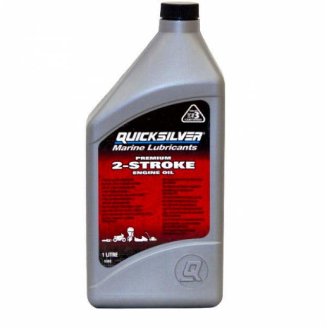 Моторное масло Quicksilver TC-W3 Premium для 2-х тактных двигателей, 1 л